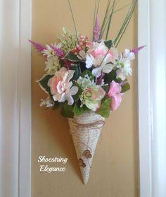 Shoestring Elegance: DIY~Make Your Own Vintage Floral Cone