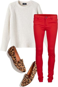 """""""Red and leopard"""" by summer-in-april on Polyvore"""