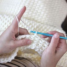 Crochet+Even+Moss+Stitch+Blanket