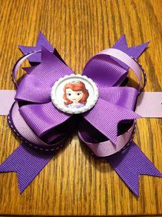 Sofia the First purple Hair Bow