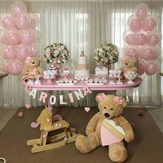 51 best ideas for baby girl shower themes ideas Deco Baby Shower, Shower Bebe, Baby Girl Shower Themes, Girl Baby Shower Decorations, Girl Decor, Baby Shower Parties, Birthday Decorations, Baby Boy Shower, Teddy Bear Party