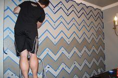 DIY Chevron accent wall-bedroom??