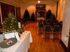 Christmas themed wedding ceremony