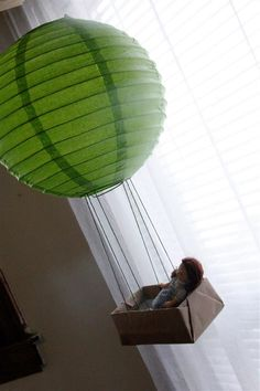I am so doing this with the lanterns I just bought!! Minus the creepy doll hahaha