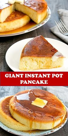 Tasty healthy food and drink that you definitely like Giant Instant Pot Pancake Japanese-style rice cooker pancakes are made in an instant pot instead for an easy and fun brunch. Instant Pot Pressure Cooker, Pressure Cooker Recipes, Breakfast Recipes, Dessert Recipes, Pancake Recipes, Banana Recipes, Desserts, Rice Cooker Pancake, Perfect Pancake Recipe