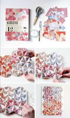 This DIY 3-D origami wall art is perfect for decorating the bedroom, office, or living room. With stylish, modern home decor like this, your space will feel totally refreshed.