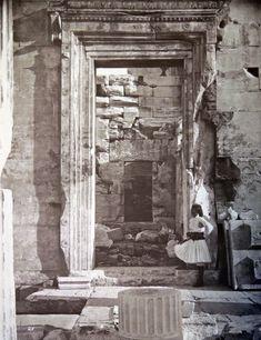 North gate of the Erechtheion, Acropolis, Athens, 1869   Artist:William James Stillman (New York 1828–1901 Surrey)