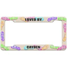 c82b9268a92 Loved By Male Names - Cayden - Plastic License Plate Frame