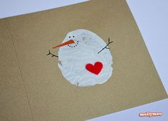 MollyMoo – crafts for kids and their parents DIY Christmas Cards - potato printed snowman
