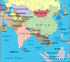 17 Best Asia Map Images Continents Countries Of The World World