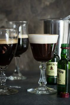 Warm Irish Coffee made with pure espresso and laced with brown sugar, Irish whiskey and cream - Foodness Gracious