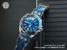 SEIKO 精工 Blue Lagoon系列 Samurai 冰藍武士 SRPB09