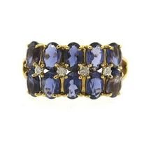 14k Gold Iolite Diamond Ring Available @ hamptonauction.com at the Fine Jewelry Watches Coins and Collectibles Auction on January 26, 2015! Come preview our catalog!