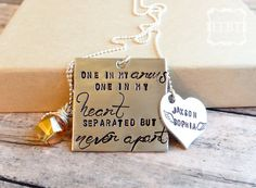 One in my Arms One in my Heart Necklace  by InTheBeanTime on Etsy, $55.00