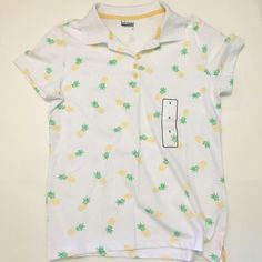 Pineapple Polo Basic Editions, S // cotton, polyester, spandex Basic Editions Tops Blouses