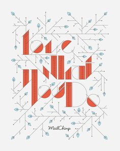 Art Nouveau - hand drawn type, embellished stroke endings, diagonal and triangular characters Love What You Do by Linda Eliasen. Typographic Design, Graphic Design Typography, Typography Letters, Hand Lettering, Hand Typography, Letter Fonts, Creative Typography, Typography Inspiration, Design Inspiration