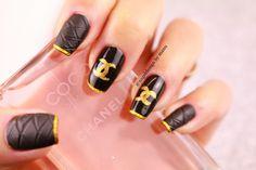 Nageldesign inspiriert von Chanel , easy nail design #chanel #nagellack #nageldesign #nailpolish #nailsart #nails