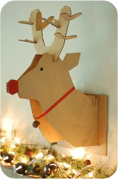 get the free pattern to make your own cardboard deer head plus a tutorial to show you how diy pinterest cardboard deer heads and free pattern