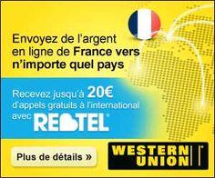 Bon plan pour les utilisateurs de Western Union et Rebtel : jusqu'à 20 euros d'appels à l'international offerts pour tout envoi d'argent   Maxi Bons Plans
