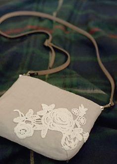 112th linen × race pochette   Stadio clip handmade goods of how to make