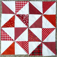 Half Square Triangle Quilt Blocks by IamSusie, via Flickr