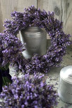 Lavender wreath …