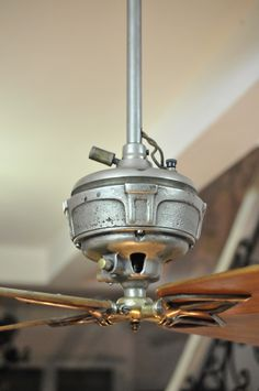 Antique gyro electric ceiling fan this is art in motion in the antique ceiling fan aloadofball Gallery