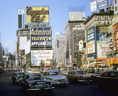 Seventh Avenue at Forty-seventh Street in August, 1959