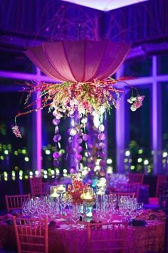 Image result for wedding hanging centrepieces