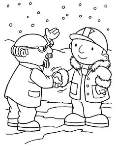 Bob The Builder Shaking Hands Coloring Pages For Kids Printable