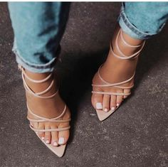 Sexy & chic pointy strappy heels<br />Dress up or down!<br /><br />Available Colors: Apricot,Black,Yellow,Red<br /><br />Ships within business days.<br />Delivery takes business<br />days once shipped Nude Strappy Heels, Hot High Heels, High Heels Stilettos, Womens High Heels, Shoes Heels, Pointed Heels, Pink Heels, Stiletto Heels, Mode Shoes