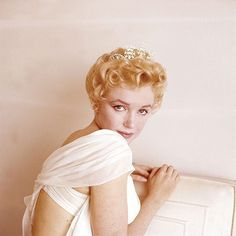 """Marilyn Monroe on the set of """"The Prince and the Showgirl"""" (1956) (: Milton H. Greene) #marilynmonroe"""