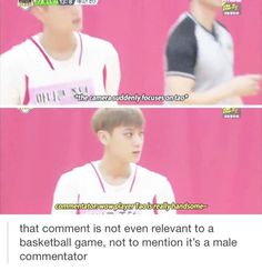 It's a MALE commentator..It's kind of normal