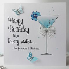 Sophisticated Martini Birthday Card