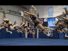 Cheer Extreme Senior Elite 2013 WORLDS final practice..I don't do cheer but this is intense......