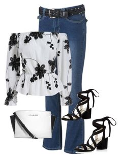 """""""Black and white"""" by im-karla-with-a-k on Polyvore featuring Kenneth Cole and Michael Kors"""