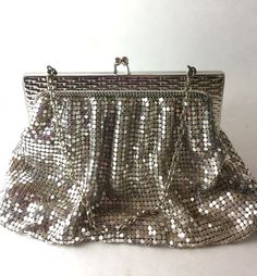 Love this sparkly vintage mesh purse by Whiting and Davis! Premium Transitions on Etsy.