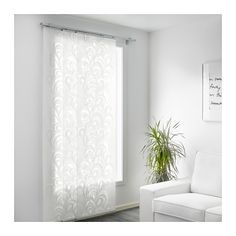 VÅRSKÖNA Panel curtain, white