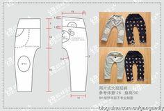 (老绿手工)简单好做的裤子附裁剪图
