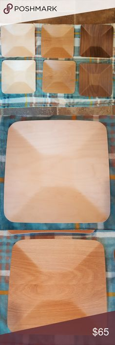"Unique dinnerware Set of 6 Muurla 12"" dinnerware.  These are handmade in Finland from birch and oak veneer.  Super light weight, easily stackable.  Hand wash recommended.  No chips or flaws.  This is being sold as a set of 6 only. This set retails for over $150.  Set only used twice.  Downsizing my overflowing cabinets. Muurla Accessories"