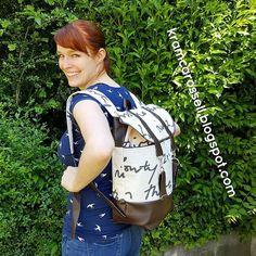 """Mein neuer Rucksack """"Pakke"""" ♥ Schnittmuster von @kreativlaborberlin und @puste.blog Unter dem Link gibt's noch ein paar Bilder :) #rucksack #pakke #nähen #diy #backpack #rums #sewing"""