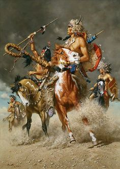 Native American & Western art prints by Frank McCarthy Native American Warrior, Native American History, Native American Tribes, American Indians, Native American Paintings, Native American Pictures, Indian Paintings, Abstract Paintings, Art Paintings
