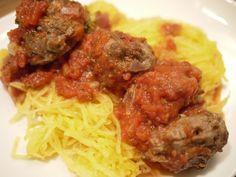 Paleo Spaghetti (Squash) and Meatballs