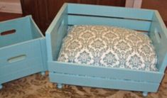 Upcycled PET BED Combo bed and toy box Wood crate Gift 2 for 1 Price Cottage Chic Eco Friendly. Wooden Toy Boxes, Cardboard Boxes, Pet Furniture, Animal Projects, Wood Crates, Pet Beds, Diy Stuffed Animals, Pet Accessories, Cat Toys