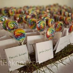 reception: i like that escort cards can be multipurposed. maybe add a personal message to the guest inside. can attach to the wedding favor (undecided...) to give it more...significance?