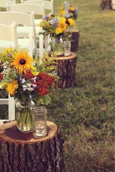 Decoração simples e rústica para casamentos