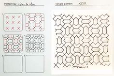 XOX tangle by Damy 禪繞畫