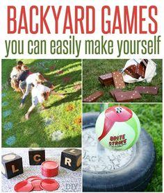 DIY Backyard Games ~