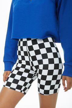 8cb81172af Checkered Biker Shorts F21
