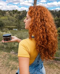 Curly Ginger Hair, Curly Hair Cuts, Long Curly Hair, Curly Girl, Curly Hair Styles, Red Hair Inspo, Pretty Hairstyles, Hair Goals, Hair Color